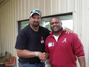 Jason with former Alabama player Tyrone Protho